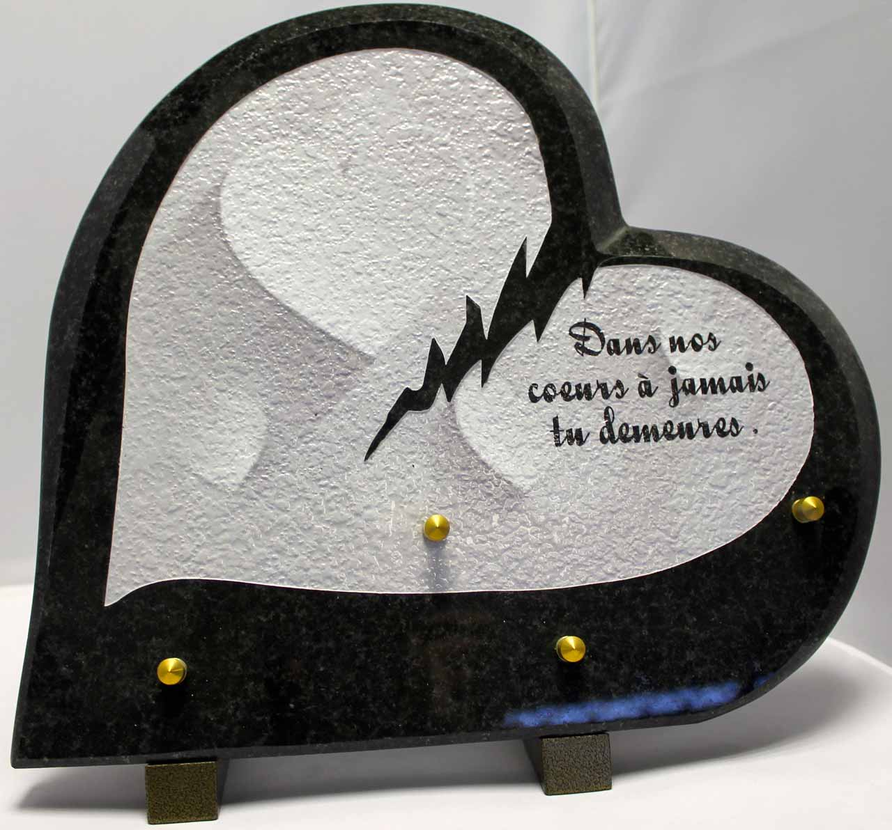plaque funeraire coeur. Black Bedroom Furniture Sets. Home Design Ideas